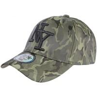 Accessoires textile Casquettes Hip Hop Honour Casquette baseball militaire Verte Fashion Curve NY Kaptain Vert