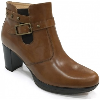 Chaussures Femme Bottines NeroGiardini Boots talon Camel Marron