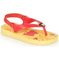 Chaussures Garçon Tongs Havaianas BABY DISNEY CLASSICS II Yellow / Red