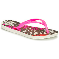 Chaussures Fille Tongs Havaianas SLIM ANIMALS Pink / Black