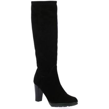 Chaussures Femme Bottes ville Elizabeth Stuart Bottes cuir velours Noir