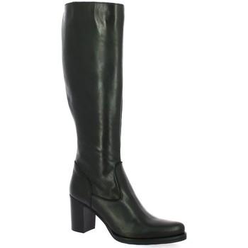 Chaussures Femme Bottes ville Spazio 08 Bottes cuir Noir