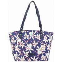 Sacs Femme Sacs porté épaule Fuchsia Sac épaule cabas  toile bleu motif fleur Hawaï bleu