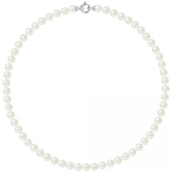 Montres & Bijoux Femme Colliers / Sautoirs Blue Pearls BPS K062 W - OB Blanc