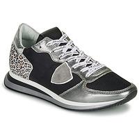 Chaussures Femme Baskets basses Philippe Model TROPEZ X Noir / Argent