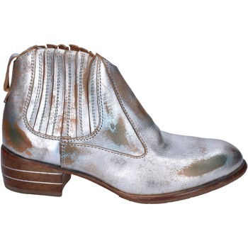Chaussures Femme Boots Moma bottines cuir argenté