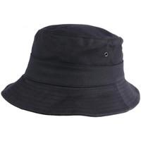 Accessoires textile Chapeaux Nyls Création Chapeau Bob Huile Noir Wax Impermeable Finistère Outdoor Noir