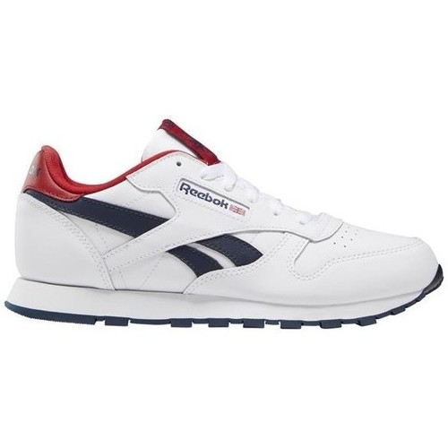 Chaussures Enfant Baskets basses Reebok Sport Classic Leather Blanc,Rouge,Bleu marine