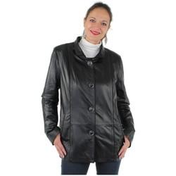 Vêtements Femme Vestes en cuir / synthétiques Pallas Cuir Veste  sélection en cuir ref_yag35763-noir noir