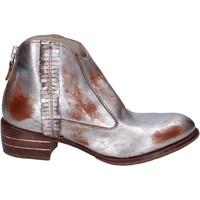 Chaussures Femme Bottines Moma bottines cuir argenté