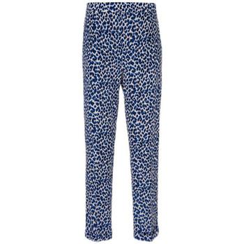 Vêtements Femme Pantalons fluides / Sarouels King Louie Pantalon Roisin Catnip Putty Ecru Bleu