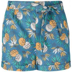 Vêtements Femme Shorts / Bermudas King Louie Short Roisin Lanai Ocean Blue Bleu
