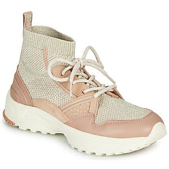 Chaussures Femme Baskets montantes Coach C245 RUNNER Rose Nude / Argenté