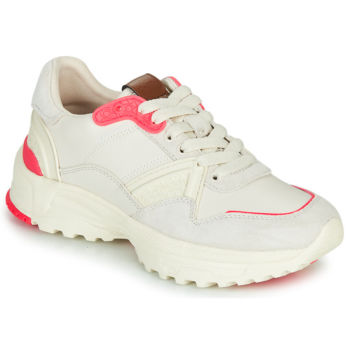 Chaussures Femme Baskets basses Coach C143 RUNNER Blanc / Rose