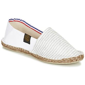 Chaussures Femme Espadrilles Art of Soule AUDACIEUSES Blanc / Argenté