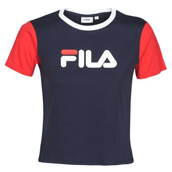 Vêtements Femme T-shirts manches courtes Fila SALOME Marine / Rouge