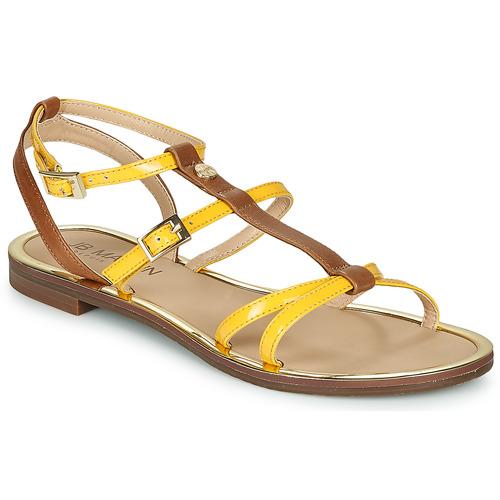 Chaussures Femme Sandales et Nu-pieds JB Martin 1GRIOTTES Jaune / Marron