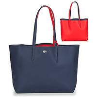 Sacs Femme Cabas / Sacs shopping Lacoste ANNA Marine / Rouge