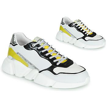 Chaussures Femme Baskets basses Serafini OREGON Blanc / Noir / Jaune