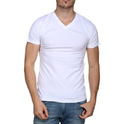 Vêtements Homme T-shirts manches courtes Teddy Smith Tee Shirt uni Blanc