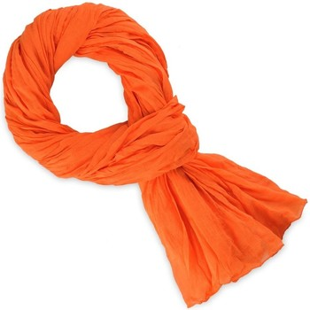 Accessoires textile Echarpes / Etoles / Foulards Allée Du Foulard Chèche coton uni Orange