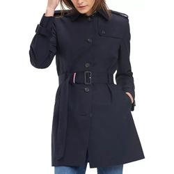 Vêtements Femme Trenchs Tommy Hilfiger Trench Droit Bleu Marine