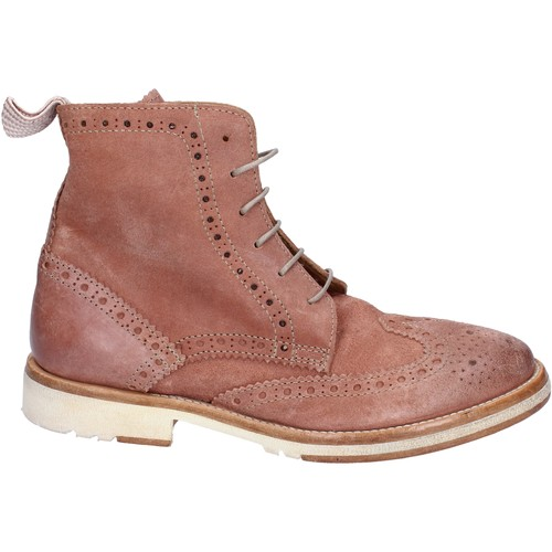 Chaussures Femme Boots Moma bottines daim rose
