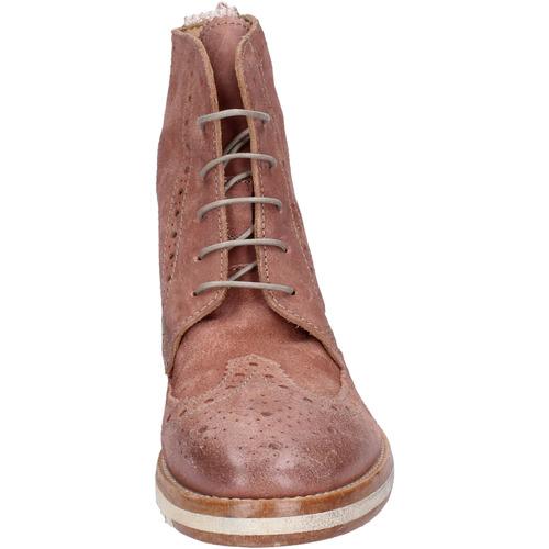bottines daim Moma boots femme rose