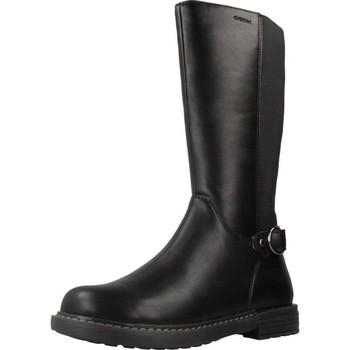 Chaussures Femme Bottes ville Geox J ECLAIR GIRL Noir