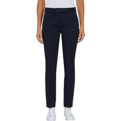 Vêtements Femme Chinos / Carrots Tommy Hilfiger Pantalon Chino Slim Bleu Marine
