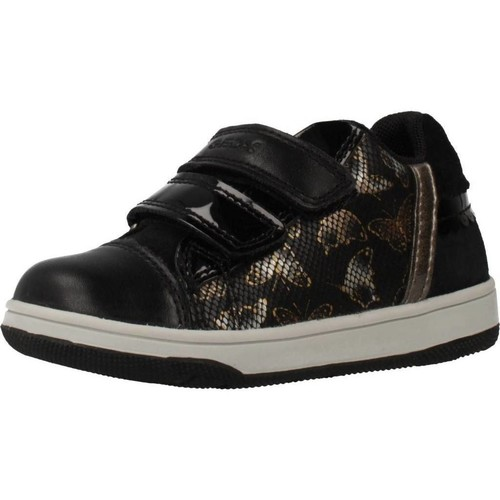 Chaussures Fille Baskets basses Geox NEW FLICK GIRL Noir