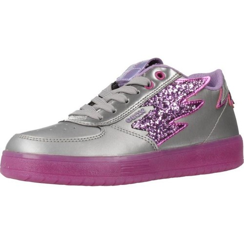 Chaussures Fille Baskets basses Geox J KOMMODOR GIRL Gris