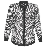 Vêtements Femme Chemises / Chemisiers Ikks BQ12105-03 Noir / Blanc