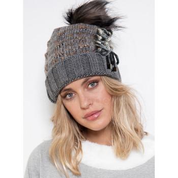 Accessoires textile Femme Bonnets Admas bonnet à houppe Gris