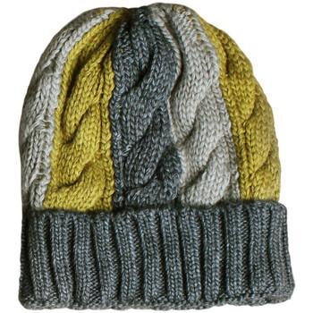 Accessoires textile Femme Bonnets Admas Bonnet tricolore Vert