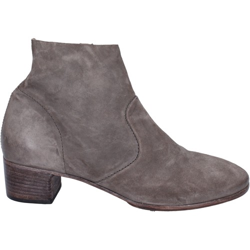 Chaussures Femme Low boots Moma bottines daim gris
