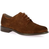 Chaussures Femme Derbies We Do Derby cuir velours Cognac