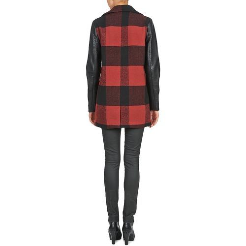 TEXAS  Noisy May  manteaux  femme  rouge / noir