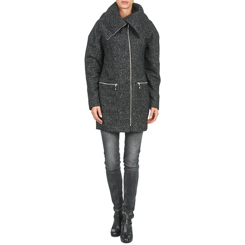 ROUND  Noisy May  manteaux  femme  gris / noir