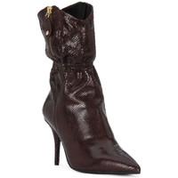 Chaussures Femme Bottes ville Elvio Zanon COBRINO PRUGNA Rosso
