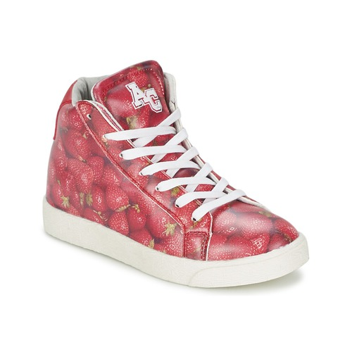 Chaussures Fille Baskets montantes American College RED Rouge