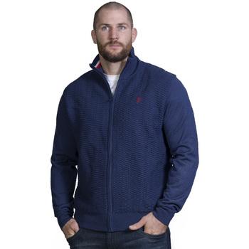 Vêtements Homme Pulls Ruckfield Gilet zippé bleu marine Bleu