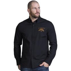 Vêtements Homme Chemises manches longues Ruckfield Chemise noir homme Noir