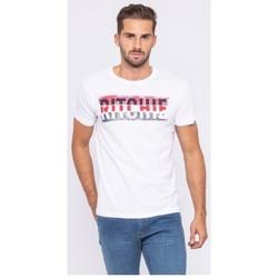Vêtements Homme T-shirts manches courtes Ritchie T-shirt col rond pur coton organique JOSH Blanc