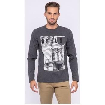 Vêtements Homme T-shirts manches longues Ritchie T-shirt manches longues col rond pur coton JURTON Gris