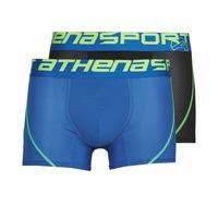 Sous-vêtements Homme Boxers Athena AIR PERFORMANCE Noir / Bleu