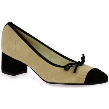 Chaussures Femme Escarpins Elizabeth Stuart Escarpins cuir velours  /sable Noir/sable