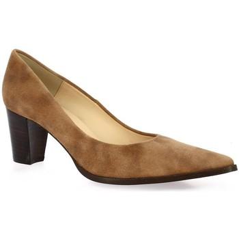 Chaussures Femme Escarpins Brenda Zaro Escarpins cuir velours Cognac