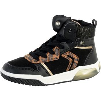 Chaussures Fille Baskets montantes Geox Basket Montante  Fille Inek Noir