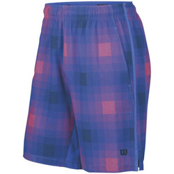 Vêtements Garçon Shorts / Bermudas Wilson Summer Blur Plaid Stretch Woven 8 Short Blue Iris